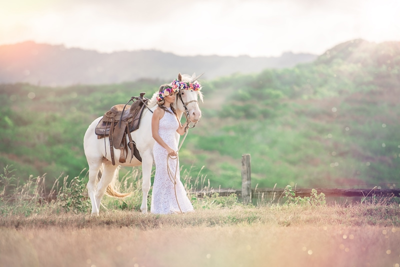Orange County Portrait Photography, woman standing next to a unicorn