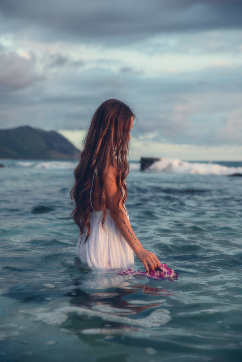 Orange County Portrait Photography, woman in the water